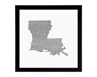 Louisiana State Love Art Print