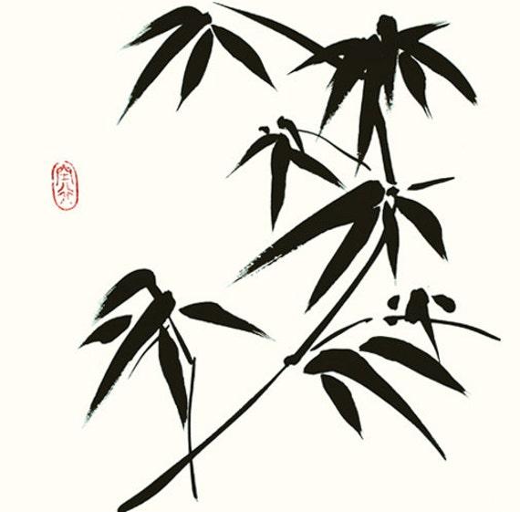 Bamboo Chinese Painting Japanese Painting Brush Line