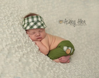 newborn photo prop, newborn baby clothes, newborn baby hat, newborn boy, baby boy, baby hat, baby boy hat, golf visor
