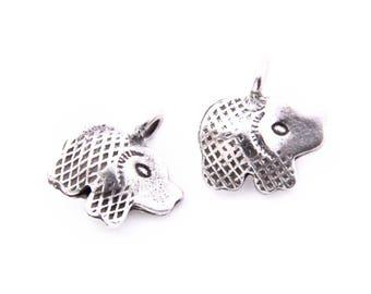 Thai Karen Hill Tribe Silver,Pig Shaped Karen Hill Tribe Handmade Charms,Charms,Karen Silver- KSC0095