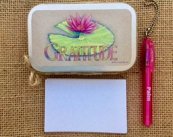 Gratitude box; pink lotus flower; SPIRITUAL GIFT, handmade gift for daughter, niece, friend ;dream box; gift for coworker