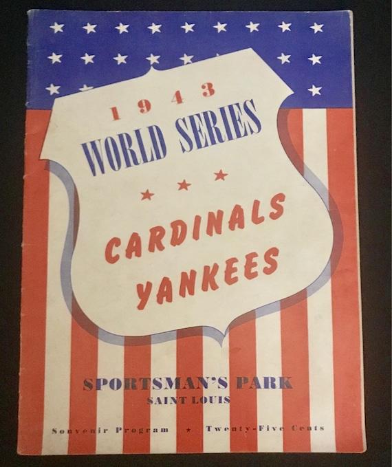 Vintage-1943-World Series-Cardinals VS Yankees-Sportsmans Park-Saint Louis-Souvenir Program