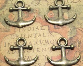 8pcs Anchor charms bronze tone Anchor Charm Pendants 30x28mm ASD1798