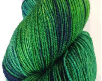 Yarn sock weight Hand dyed 100% Superwash Merino-