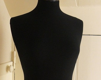 Display Mannequin Full Size Vintage Style Clothes Dress Form - Black