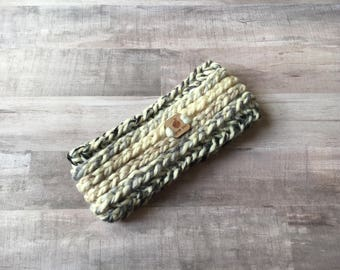 Headband Ear Warmer, Gray Ombre - Crochet Headband - Womens Knit Headband - Fall Accessories - Knit Earwarmer - Gifts for Her - Headbands