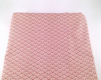 """50x73 cm- Japanese fabric pattern Cupper and White Waves """"2"""" seigaiha 100% cotton"""