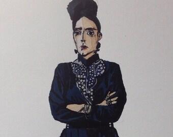 figurative portrait of stylish performance artist Stav B.