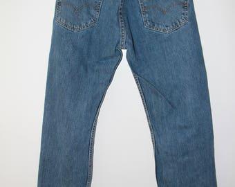 LEVIS STRAUSS 505 W29 X L30 Mittel waschen Jeans Vintage-jeans