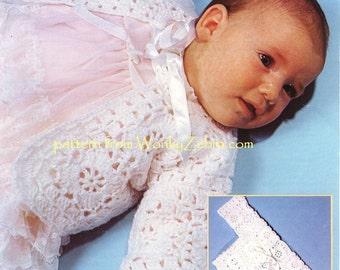 Baby Crochet Granny Square Jacket Pattern PDF B067 from WonkyZebraBaby