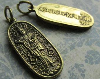 Quan Yin, Quan Yin Pendant, Goddess of Mercy, Symbolic Pendants, Brass Pendants, Quan Yin Pendants, Quan Yin Charms
