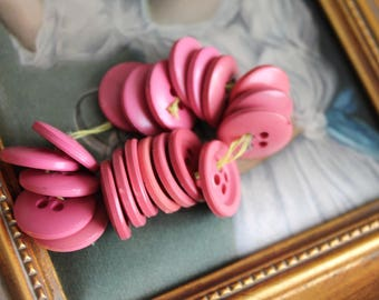 10 buttons sewing color round wood rose, or rose 18 mm diameter, 4 holes, 435