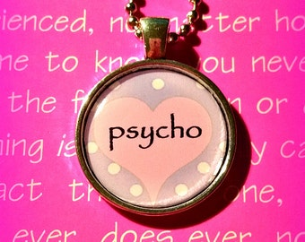 Psycho Pastel Purple Pink pendant necklace 90s fashion Pastel Goth Soft Grunge