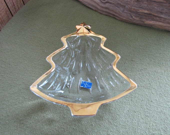 Mikasa's Christmas Tree Nut Dish Nova Studios Line Vintage Holiday Serving Ware