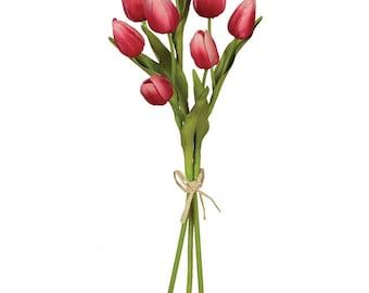 """Pink Tulip Stem 15.5"""""""