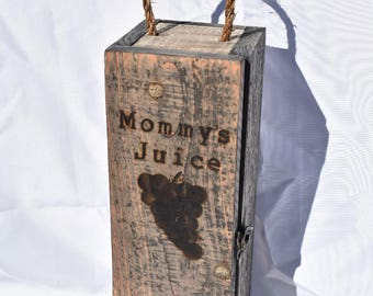 Recycled or reclaimed wood wine box
