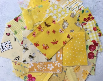 Yellow mini 2.5 inch Charm pack of 42 sqaures