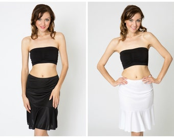 Flounce Slip Combo Pack - Black and White