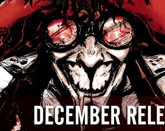 Issue Bundle: December 2017 Alterna Comics The Wicked Righteous #3, The Chair #4, Trespasser #4, newsprint
