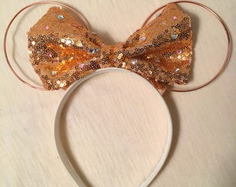 Rose Gold Wire Minnie Ears