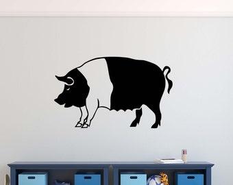 Pig Hog Vinyl Wall Decal Decor