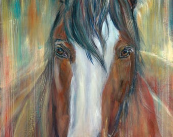 Archival Art Print, Clydesdale, Contemporary Art, 30 x 20.1cm