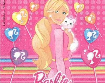 2 Barbie (250) paper napkins