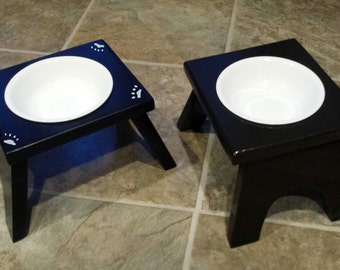 Raised Cat Feeding Station - 1 Bowl