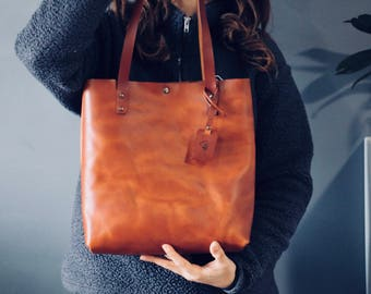 Leather tote bag ,leather tote,shoulder bag,handmade leather bag ,tote bag,brown leather bag,borsa di cuoio,