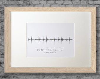 It's our baby's heartbeat - personalised sound wave frame using your baby's heartbeat - DIGITAL DOWNLOAD ONLY