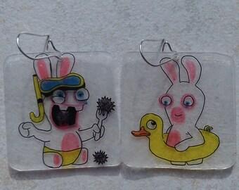 lapin crétin Beach earrings