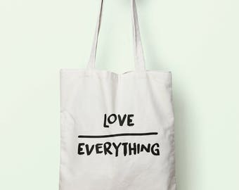 Love Over Everything Tote Bag Long Handles TB0113