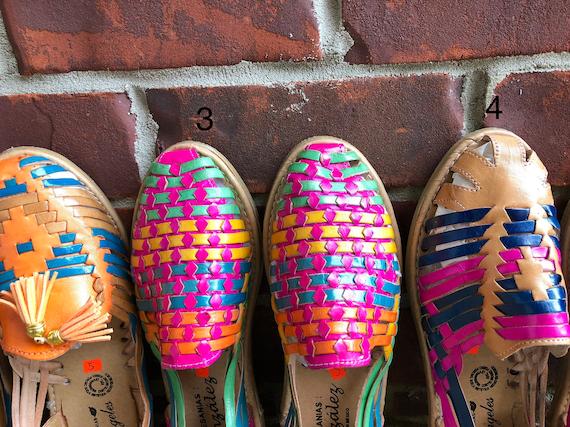 huaraches 7 size leather Handmade US UwFq0q6a