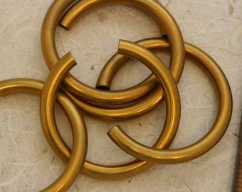 Brass noodles. Vintage brass. Priced per noodle. Beadwork, Jewelry making, Jewelry supply.