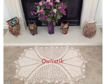 A beautiful and sophisticate Rug pattern/ not a finished product - no refund