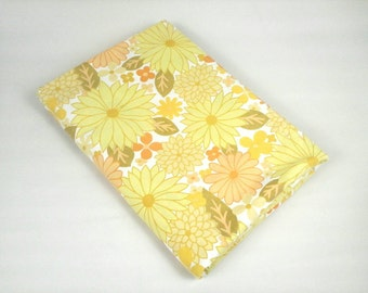 60s psychedelic floral single twin duvet cover retro daisies flower power yellow lime green