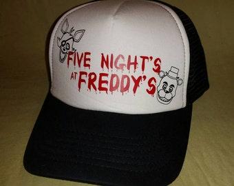Five Nights at Freddy's Hat - Truckers hat - FNAF - FNAF4 - FNAF Hat - Freddy Fazbear - Foxy the Pirate - snap back hat - trucker hat