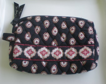 Vera Bradley Lined Cosmetic Bag Red and Black