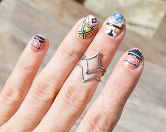 Stacking Chevron Ring Midi Finger Cuff Knuckle Ring Bohemian Jewelry Tribal Ring