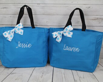 14 bridesmaid tote bags , bridesmaid gifts , tote bag , beach bag , bachelorette party gift ,wedding bag , maid of honor