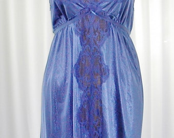 Lilac Floor Length Nightgown Vintage Maidenform Size Small