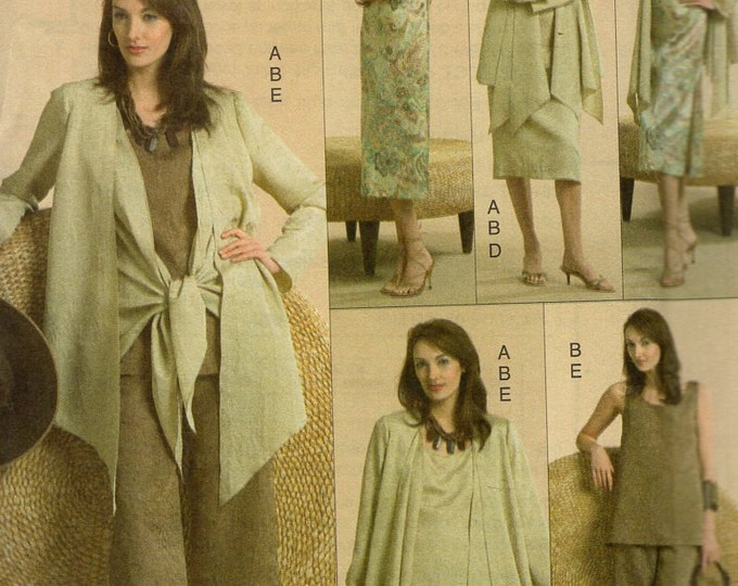 Free Us Ship Sewing Pattern Vogue 8270 Five Easy Pieces Separates Dress Jacket Pants Skirt Size 6 8 10 Bust 30.5 31.5 32.5 Out of Print 2005