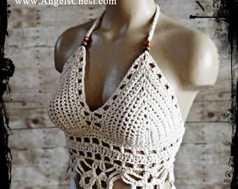 Crochet Pattern Summer Halter Top, Crop top by AngelsChest - Pattern No. 70