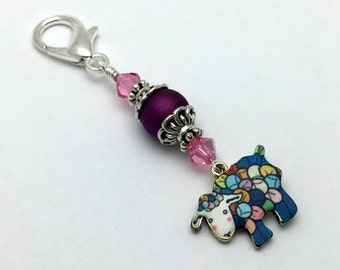 Yarn Sheep Zipper Pull Jewelry, Key Chain Charm, Knitting or Crochet Progress Keeper, Mother's Day Gift