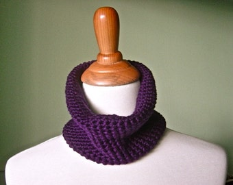The Petite Lena Infinity Scarf - Luxurious Hand Crochet Merino Wool Cowl