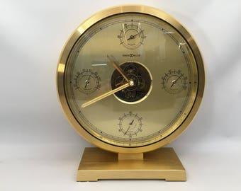 Howard Miller Clock with Weather Station for Desk/ Mantle.
