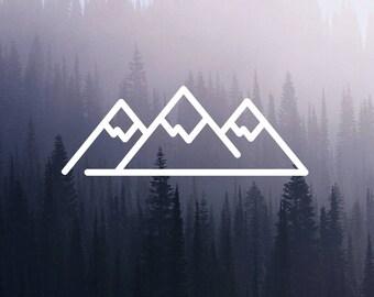 Mountain Decal, Adventure Decal, Minimal, Laptop Sticker, Vinyl Sticker, Gift Sticker, Car Decals, Macbook Decal, Window Decal