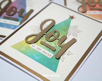 Joy to the World - Ethereal Minimalist Christmas Card Sets