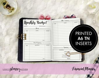 Financial Planner Travelers Notebook | Budget Planner Insert | No3/A6 TN Inserts