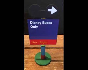 handmade Disney Inspired road sign Disney Buses Only